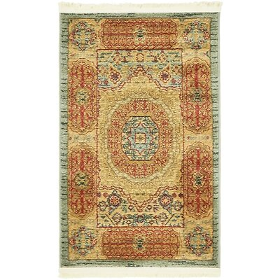 Laurelwood Red/Beige Area Rug Rug Size: Round 6