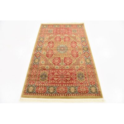 Laurelwood Red Area Rug Rug Size: 33 x 53