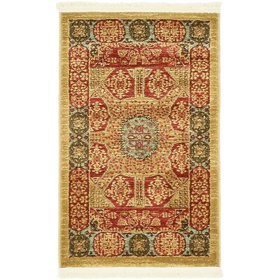Laurelwood Red Area Rug Rug Size: 2' x 3'