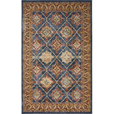 Nathanson Light Blue Area Rug Rug Size: 5 x 8