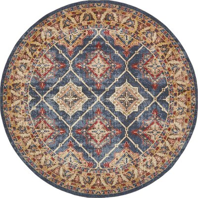 Nathanson Blue Area Rug Rug Size: 9 x 12