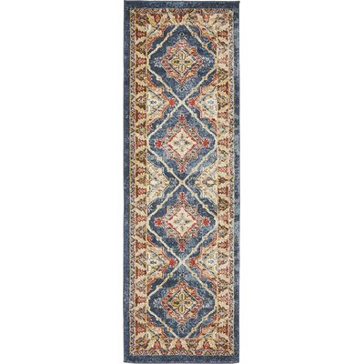 Nathanson Blue Area Rug Rug Size: Runner 2 x 6