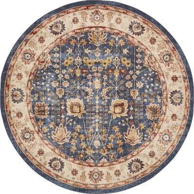 Nathanson Light Blue Area Rug Rug Size: 8 x 8
