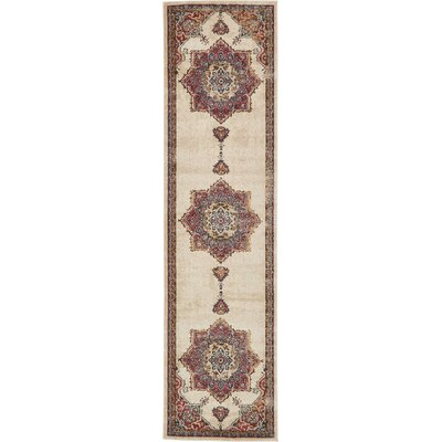 Dulin Cream Area Rug Rug Size: Runner 27 x 10
