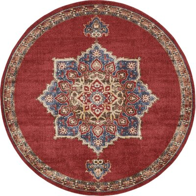 Nathanson Terracotta Area Rug Rug Size: 8 x 8