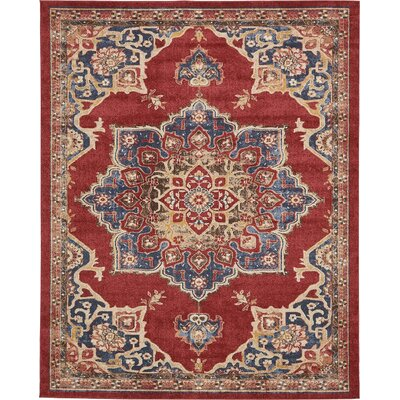 Nathanson Terracotta Area Rug Rug Size: 8 x 10