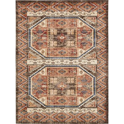 Nathanson Brown Area Rug Rug Size: 9 x 12