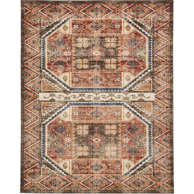Nathanson Brown Area Rug Rug Size: 8 x 10
