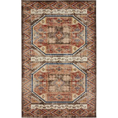 Nathanson Brown Area Rug Rug Size: 5 x 8