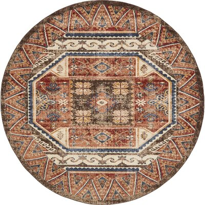 Nathanson Brown Area Rug Rug Size: 8 x 8