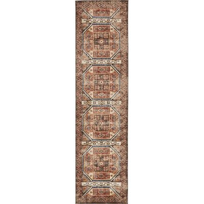 Nathanson Brown Area Rug Rug Size: Runner 27 x 10