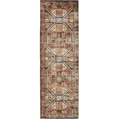 Nathanson Brown Area Rug Rug Size: Runner 2 x 6