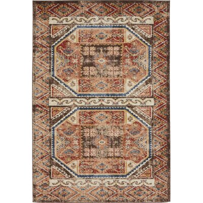 Nathanson Brown Area Rug Rug Size: 4 x 6