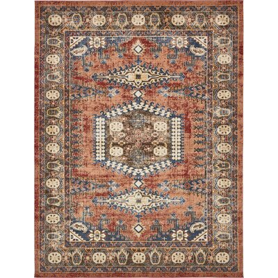 Nathanson Terracotta Area Rug Rug Size: 159 x 23