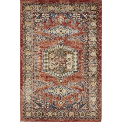 Astoria Grand Nathanson Terracotta Area Rug