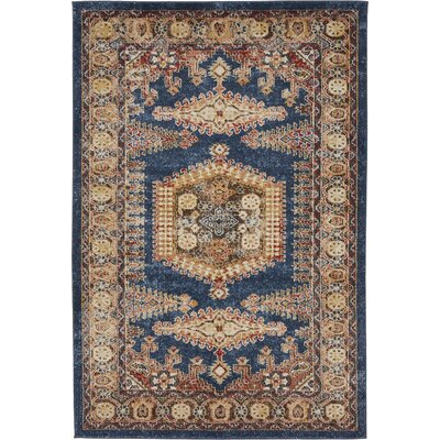 Nathanson Dark Blue Area Rug