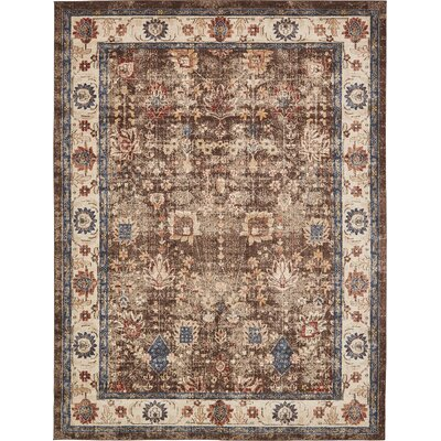 Nathanson Light Brown Area Rug Rug Size: 159 x 23