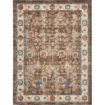 Nathanson Light Brown Area Rug Rug Size: 9 x 12