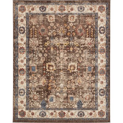 Nathanson Light Brown Area Rug Rug Size: 8 x 10