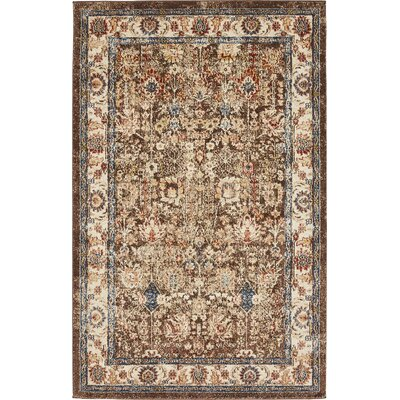 Nathanson Light Brown Area Rug Rug Size: 5 x 8