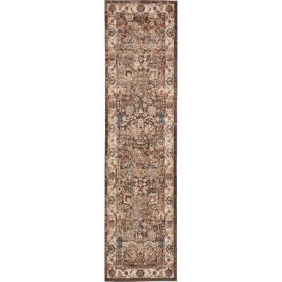 Nathanson Light Brown Area Rug Rug Size: Runner 27 x 10