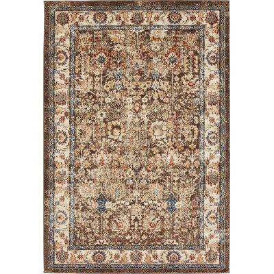 Nathanson Light Brown Area Rug Rug Size: 4 x 6