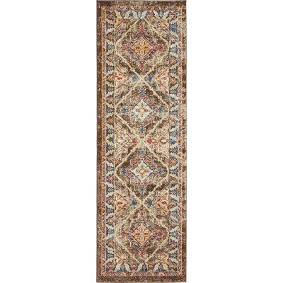 Nathanson Dark Brown Area Rug Rug Size: 8 x 10