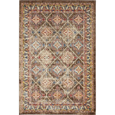 Nathanson Dark Brown Area Rug Rug Size: Rectangle 4 x 6