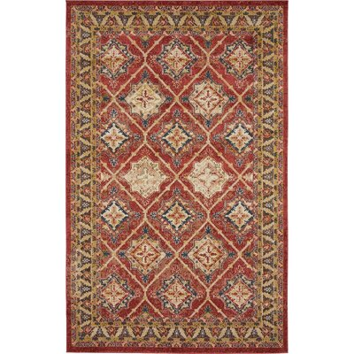 Nathanson Terracotta Area Rug Rug Size: 5' x 8'