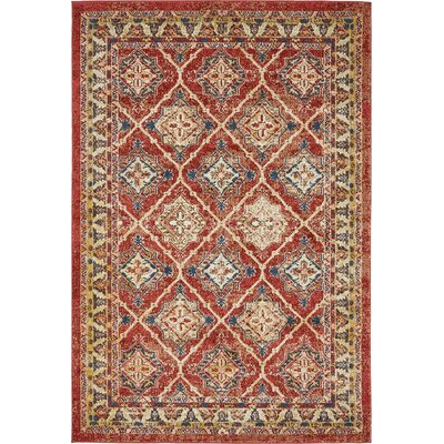 Nathanson Terracotta Area Rug Rug Size: 4 x 6