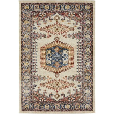Nathanson Cream Area Rug Rug Size: Rectangle 5 x 8