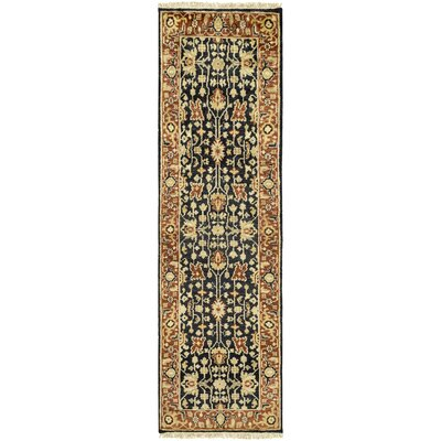 Barlett Hand-Knotted Burnt Orange/Black Area Rug Rug Size: Runner 26 x 8