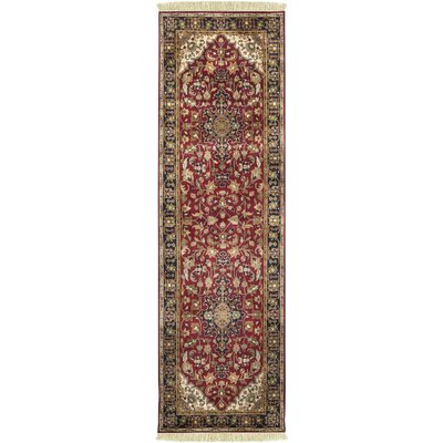 Aria Hand-Woven Area Rug Rug Size: Runner 26 x 8