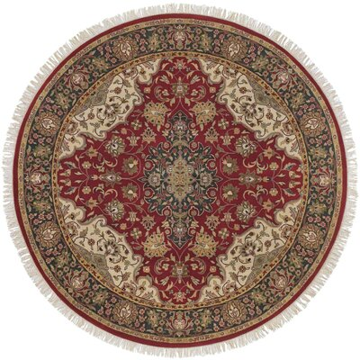 Aria Hand-Woven Area Rug Rug Size: Round 8