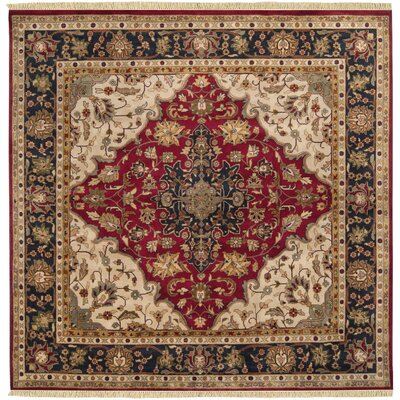 Aria Hand-Woven Area Rug Rug Size: Square 8