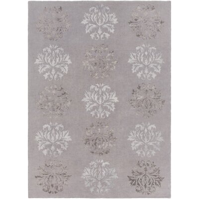 Mackenzie Hand-Woven Stone Area Rug Rug Size: Rectangle 36 x 56