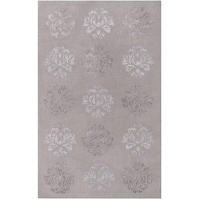 Barnes Hand-Tufted Medium Gray Area Rug Rug size: 5' x 8'
