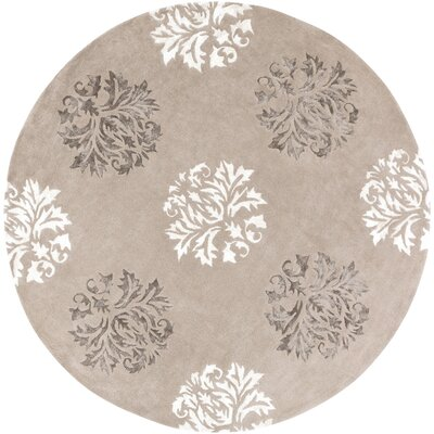 Mackenzie Hand-Woven Natural Area Rug Rug Size: Round 8