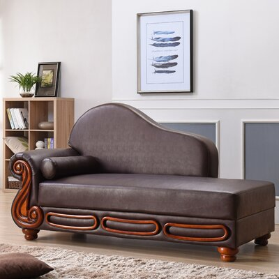 Baisden Chaise Lounge Color: Brown