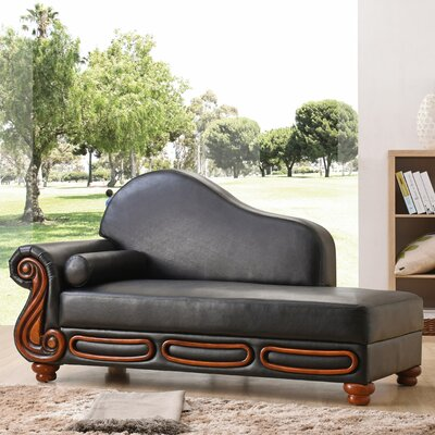 Baisden Chaise Lounge Color: Black