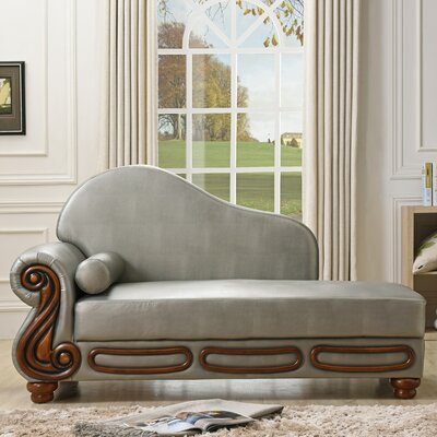 Baisden Chaise Lounge Color: Antique Silver