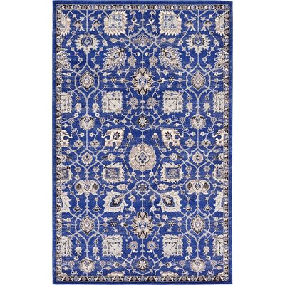 Drumsill Blue Area Rug Rug Size: 5 x 8