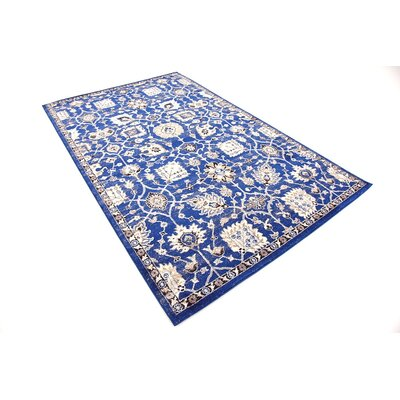 Drumsill Blue Area Rug Rug Size: Rectangle 5 x 8