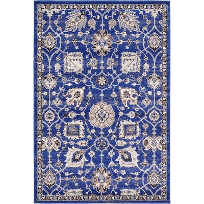 Drumsill Blue Area Rug Rug Size: 4' x 6'