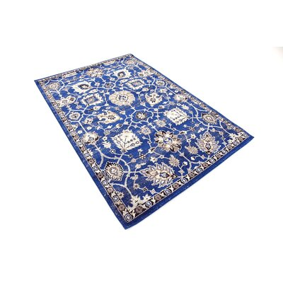 Kelsch Blue Area Rug Rug Size: Rectangle 4 x 6