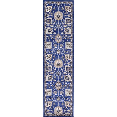 Drumsill Blue Area Rug Rug Size: 27 x 10