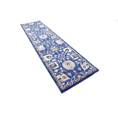 Drumsill Blue Area Rug Rug Size: Runner 27 x 10