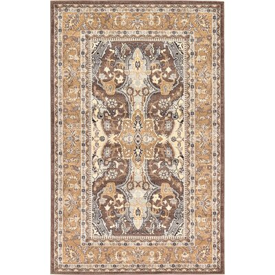 Dryden Brown Area Rug Rug Size: Rectangle 4 x 6