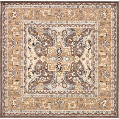 Dryden Brown Area Rug Rug Size: 84 x 84