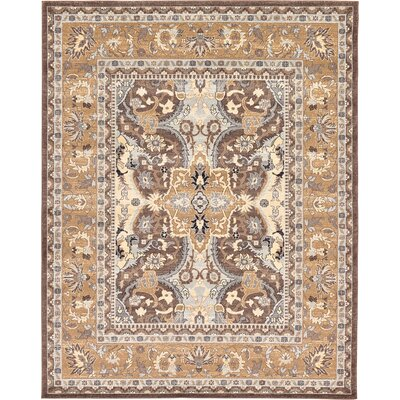 Dryden Brown Area Rug Rug Size: Rectangle 9 x 12